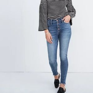 """MADEWELL 10"""" HIGH-RISE SKINNY JEAN BUTTON FLY"""